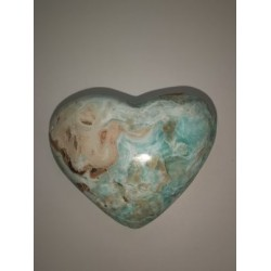 Coeur en calcite bleue du...